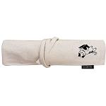 【珠友】布麻帆復古捲式筆袋-書本貓