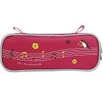 【珠友】音符單層上翻筆袋-A粉紅