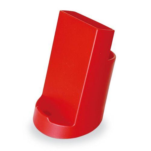 【三瑩】2合1手機座筆筒-紅