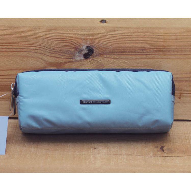 新雙層寬筆袋(水藍)