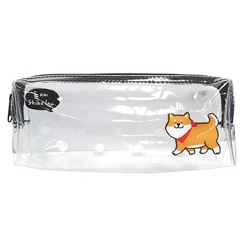柴犬透明長型筆袋B-柴犬