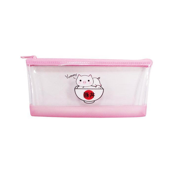 小白豬筆袋PVC(大)-粉