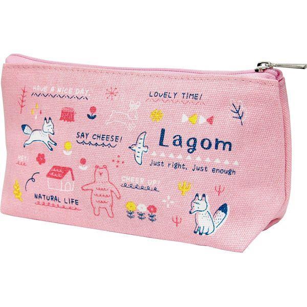 三角筆袋-粉紅