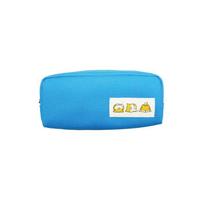 柴犬U型筆袋-藍