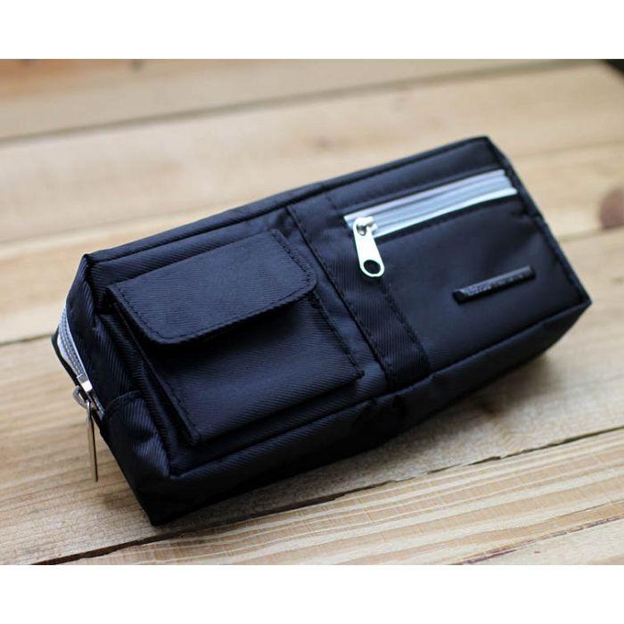 四方加袋筆袋(黑色)