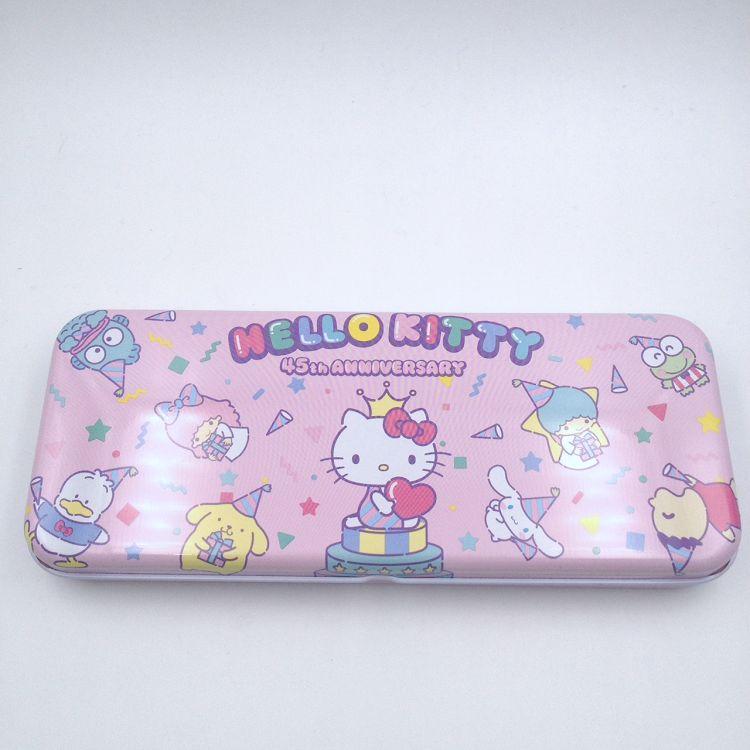 Hello Kitty_寬雙層筆盒(家族)