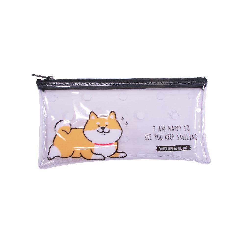 柴犬透明扁筆袋A-柴犬