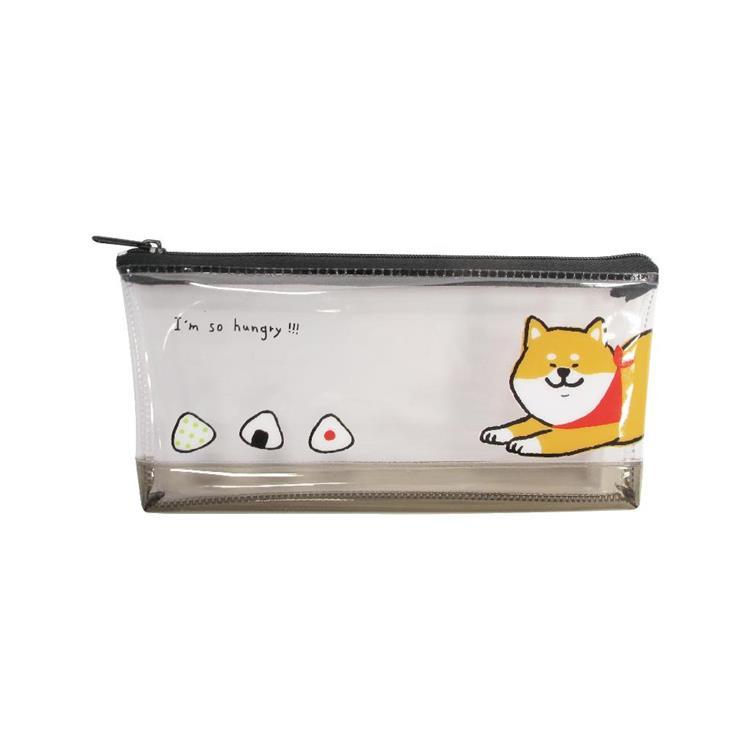 柴犬筆袋PVC(大)A-黑