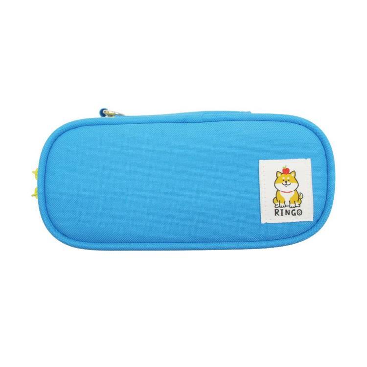 柴犬長型布筆盒C-藍