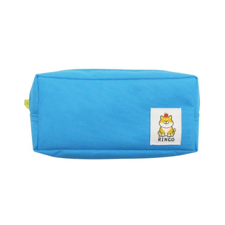 柴犬四方筆袋B-藍