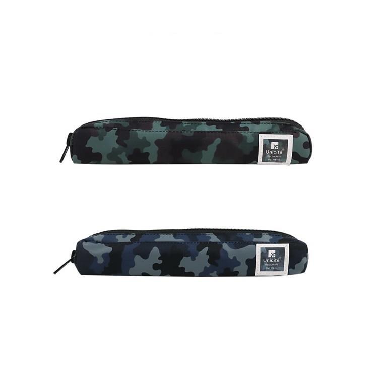迷彩小筆袋-02藍