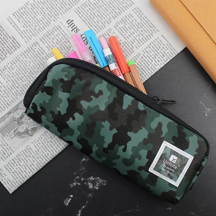 迷彩L型拉鍊筆袋-01綠
