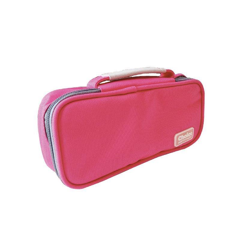 Choice-簡約素色單層國民包筆袋-桃紅