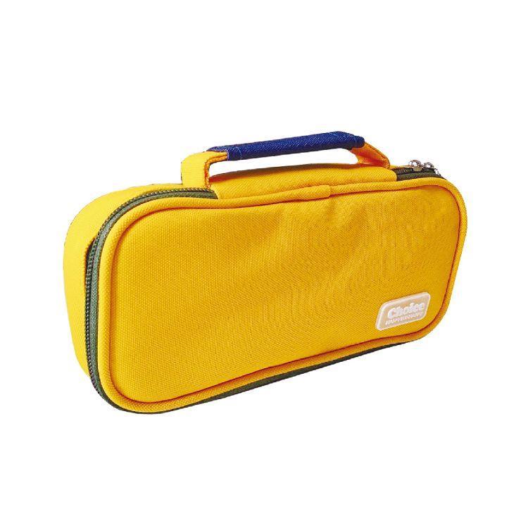 Choice-簡約素色單層國民包筆袋-黃