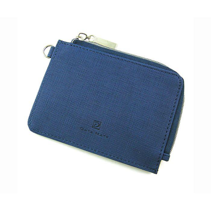 【DATA MATE】輕巧悠活系列票卡零錢包-深藍DM-251