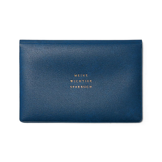 【HIGHTIDE】復古存摺封套-海軍藍