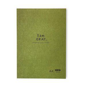 【柏格文具】I am okay-A4方眼 機能記事本 綠
