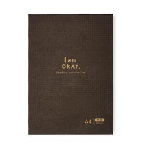 【柏格文具】I am okay-A4方眼 機能記事本 黑