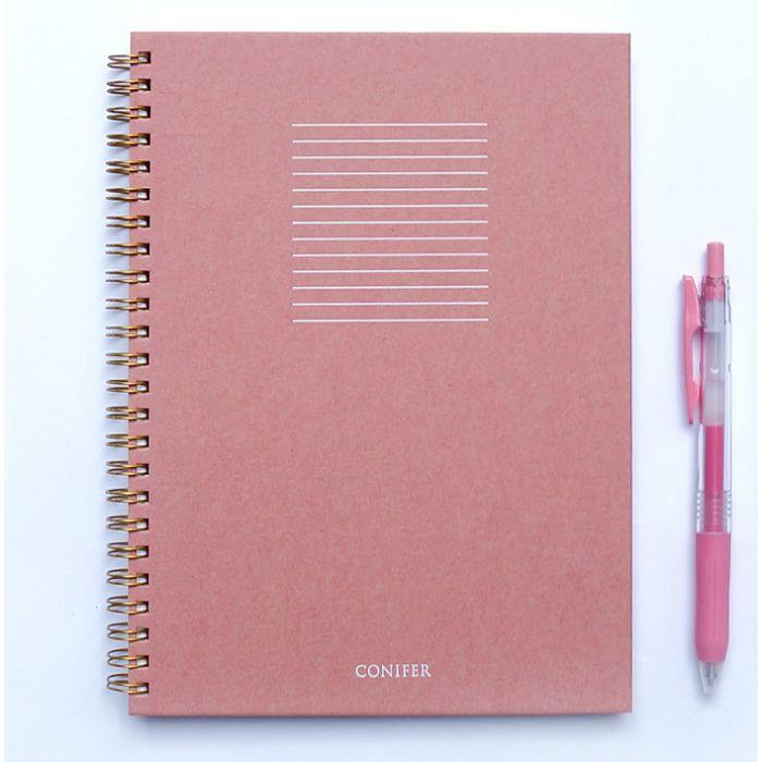 【Conifer綠的事務】16K 禪Zen 線圈橫線筆記 - 紅絹