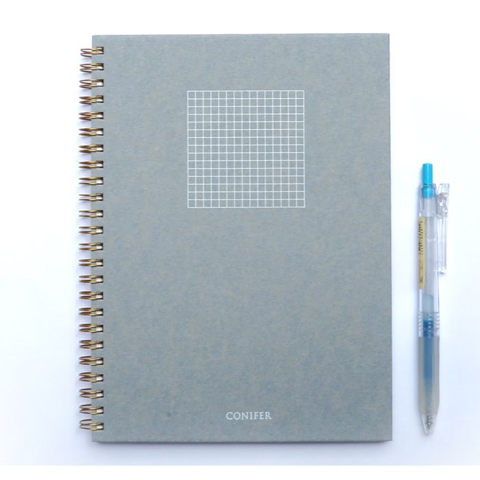 【Conifer綠的事務】16K 禪Zen 線圈方格筆記 - 靛青