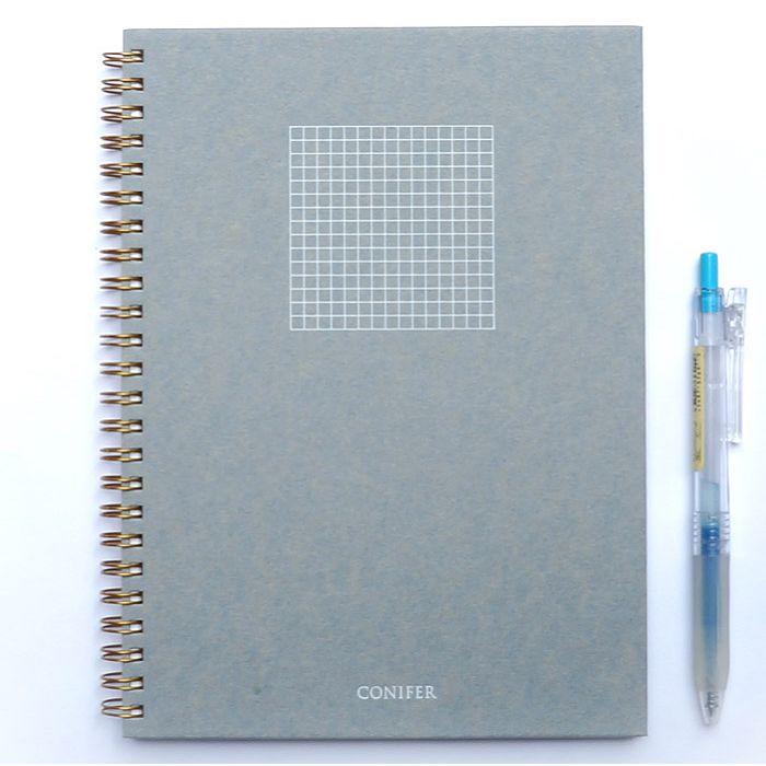 【Conifer綠的事務】25K 禪Zen 線圈方格筆記 - 靛青