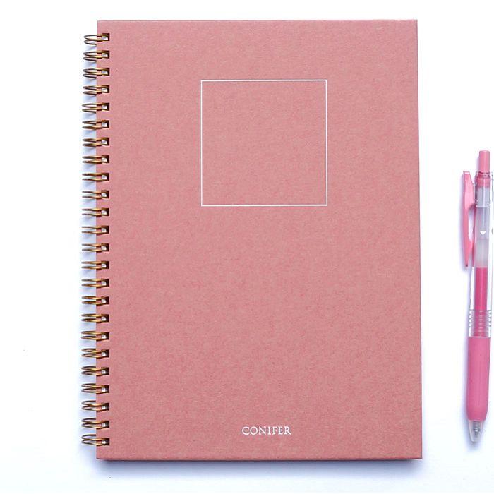 【Conifer綠的事務】32K 禪Zen 線圈空白筆記 - 紅絹