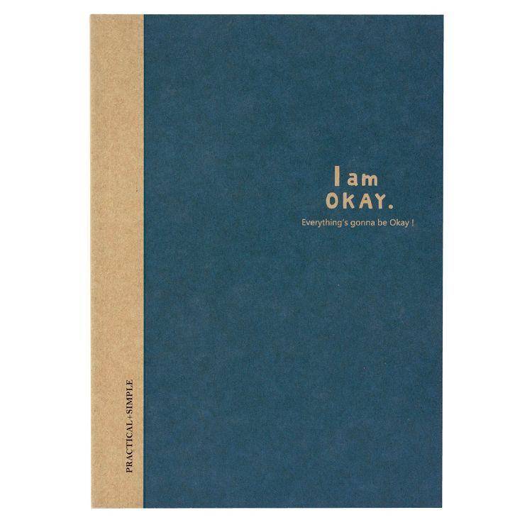 【柏格文具】I am okay 25K橫罫加厚筆記 藍
