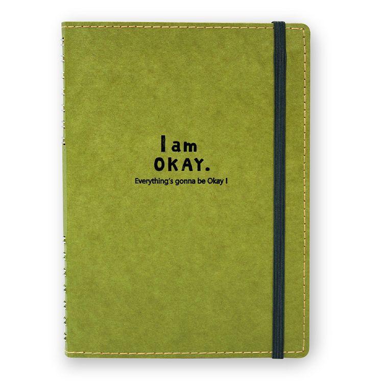【柏格文具】I am okay 36K手寫本 綠