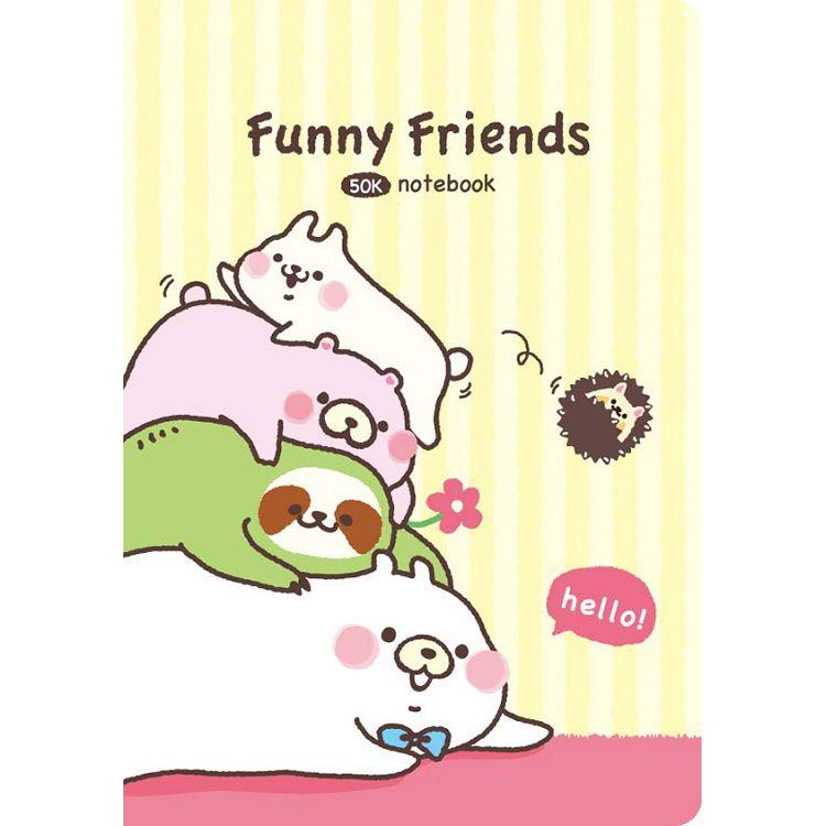 【四季紙品禮品】FF熊-筆記定頁空白50K-疊物