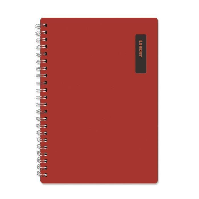 【珠友】A4/13K雙圈筆記(橫線)/150張-B紅