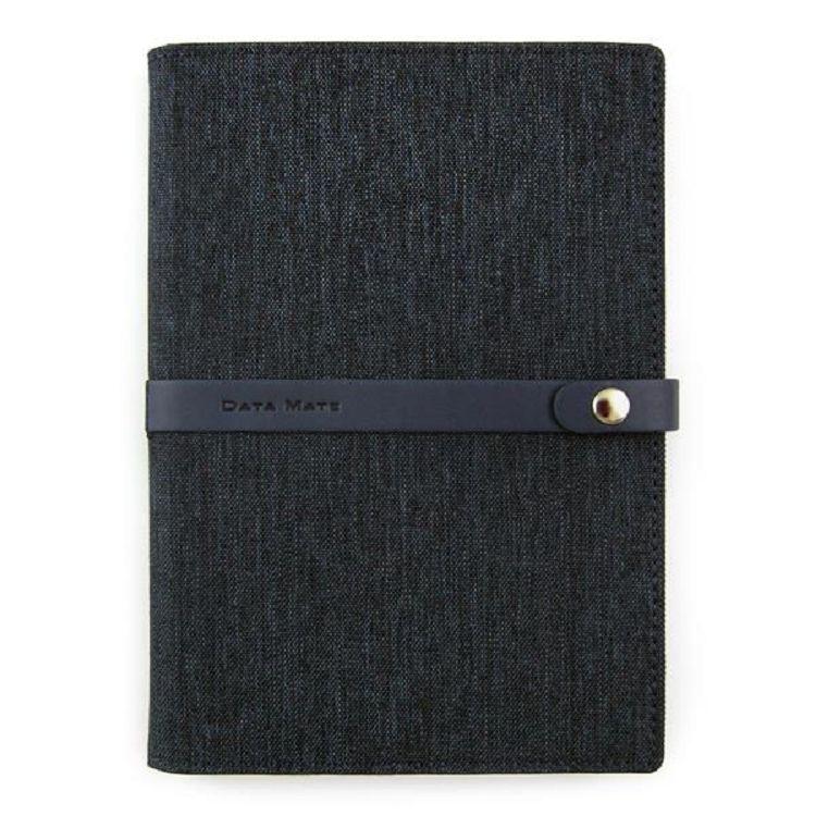 Data Mate 風尚棉麻B6布套高級平裝本DM-608-藍黑