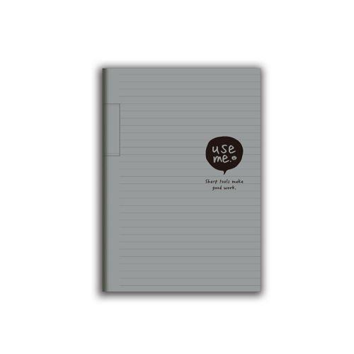 USE ME25K厚本橫罫定頁筆記-灰