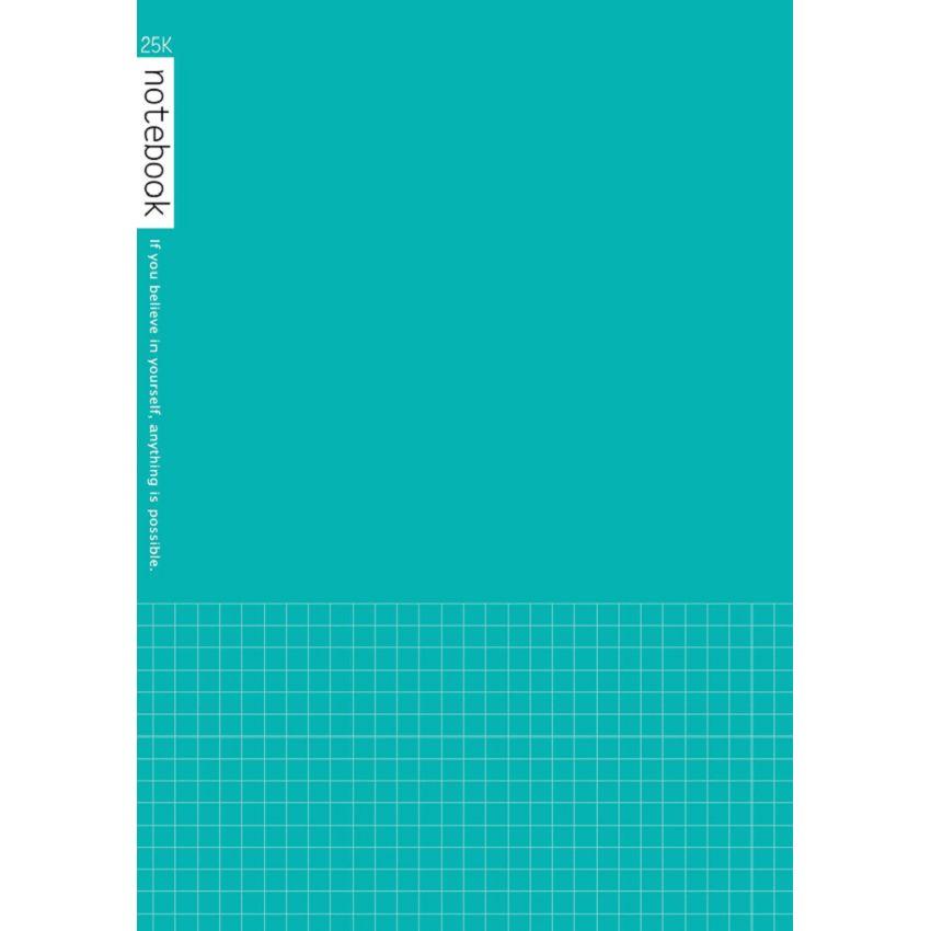 筆記方格25K-藍綠