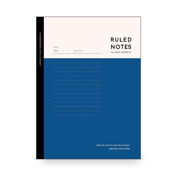 簡單生活-16k 東康加厚定頁筆記-紺藍