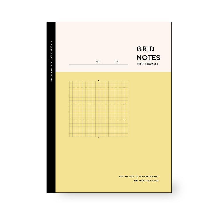 簡單生活-16k主題活用方格定頁筆記-芥黃