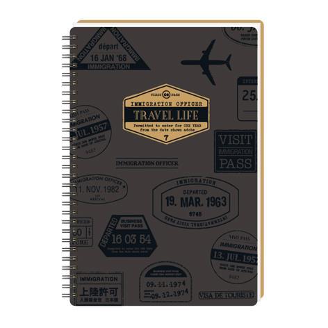 18K方格活頁筆記-旅行