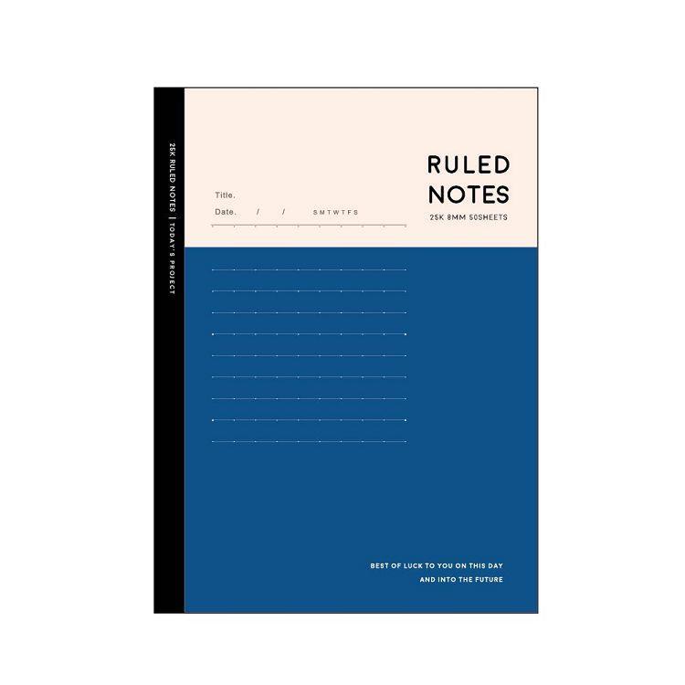 簡單生活-25k東康加厚定頁筆記-紺藍
