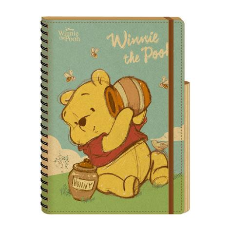 【南寶興】維尼25K車縫橫線筆記-維尼蜂蜜