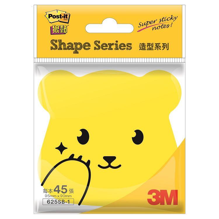 3M 4X4熊熊狠黏造型便條紙黃625SB-1