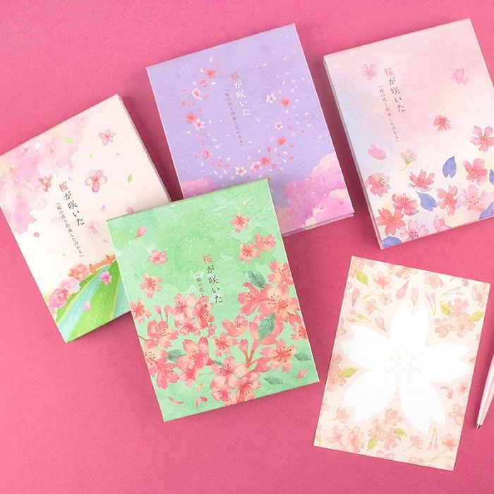 櫻の日-精裝便條本78張-01花開