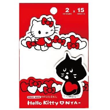Hello Kitty X NYA-雙層造型便利貼SR-ME154