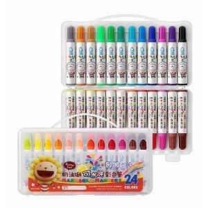 奶油獅BLW-24/B皇冠可水洗24色彩色筆(新版)