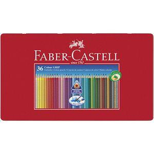 Faber-Castell  2001握得住水彩色鉛36色鐵盒裝
