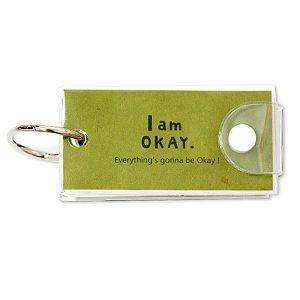 【柏格文具】I am okay 牛皮單字本 小