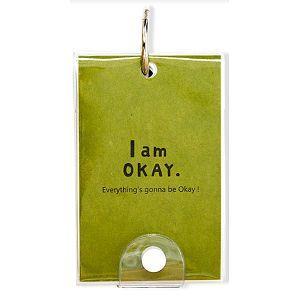 【柏格文具】I am okay 牛皮單字本 大