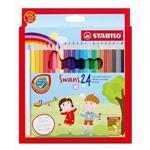 STABILO SWANS系列色鉛筆1盒24色