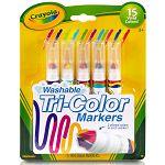 【Crayola繪兒樂】 可水洗3色頭新奇色筆5色