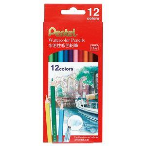 Pentel 水溶性色鉛筆12色(紙盒)CB9-12TW