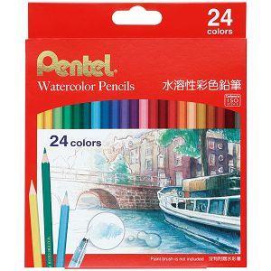 Pentel 水溶性色鉛筆24色(紙盒)CB9-24TW