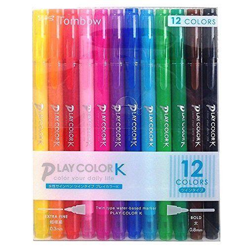 【TOMBOW】雙頭彩色筆K-12色組